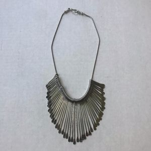 Hobo Silver Teardrop Choker Metal Necklace Hippie